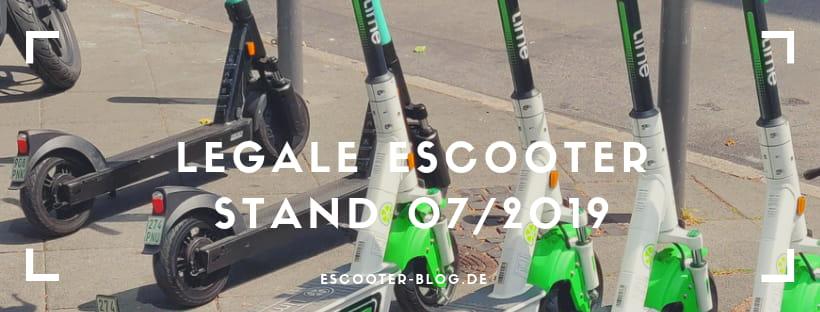 Escooter Übersicht Legale Modelle